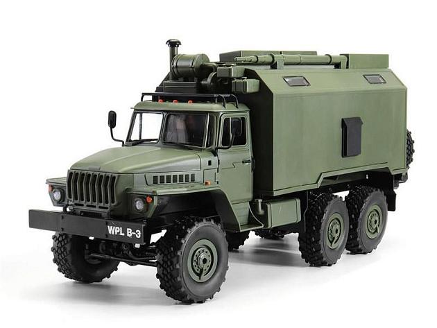 Радиоуправляемая машина WPL УРАЛ (зеленый) 6WD 2.4G 1/16 RTR - B-36 - купить по оптовой цене в интернет-магазине RCstore.ru